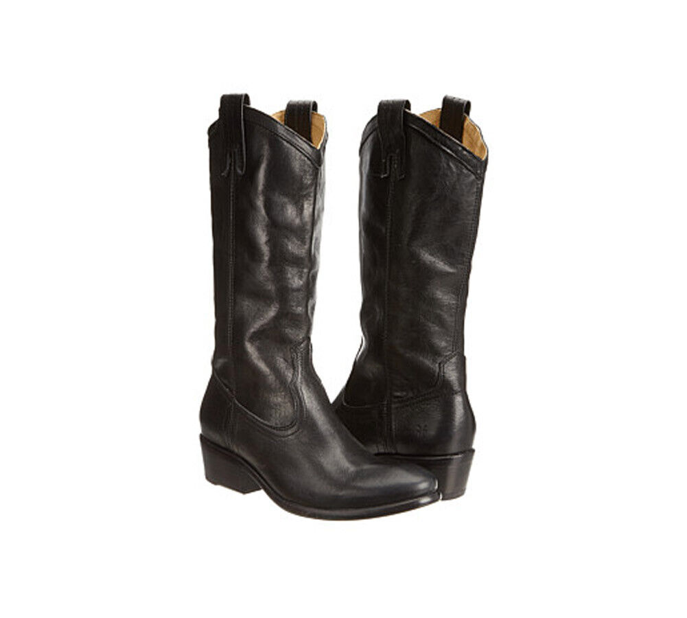 New FRYE Women's Carson Carson Carson Pull On Boot Black Washed Antique Pull Up 7 312b3b