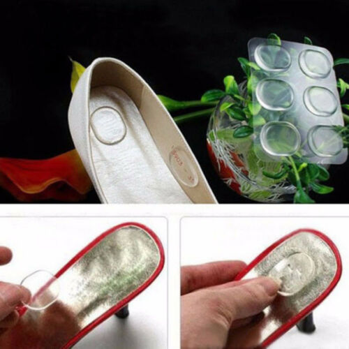 6x Silicone Gel Shoe Insole Inserts Pad Cushion Foot Care Heel Grips Liner Round