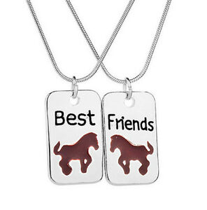 HORSE & WESTERN JEWELLERY JEWELRY GIRLS  BEST FRIENDS NECKLACE SET