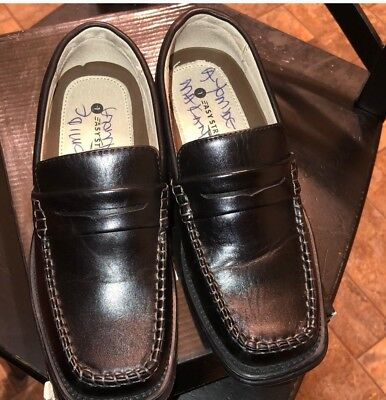 Easy Strider Boy/'s Penny Classic 37414 Black School Uniform Loafers Shoes