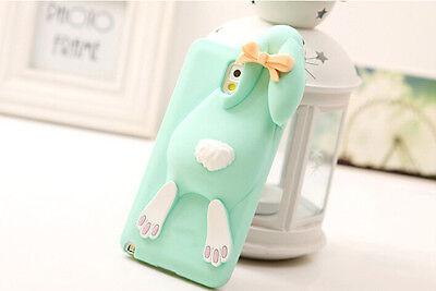 Fashion 3D Cute Rabbit Soft Silicone Back Case Cover For Samsung Galaxy