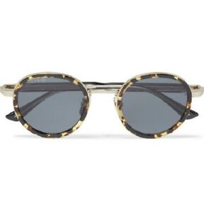 Image is loading GUCCI-Round-Frame-Tortoiseshell-Acetate-and-Gold-Tone- b54b13476e6