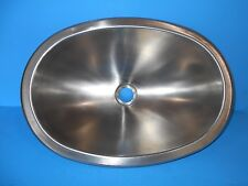 *12 X 17 OVAL STAINLESS STEEL SINK SINGLE BOWL RV SSOV-1217-22