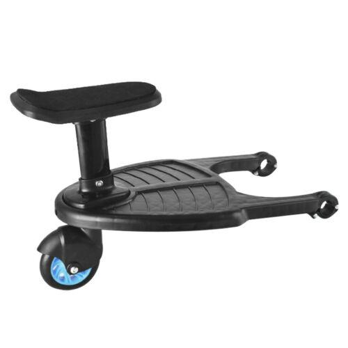 Buggy Board mit Sitz Universal Kiddy Board Trittbrett für Kinderwagen Rollbrett