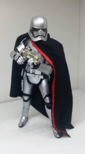 "NO FIGURE CAPE ONLY Custom Cape for Star Wars 6/"" Black Series Captain Phasma"
