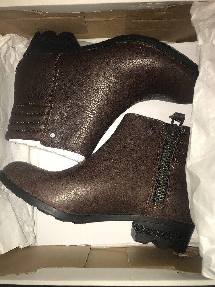 NIB Sorel Women Danica Short Booties Tobacco / BritishTan - 8.5 US - retail 175