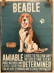 BEAGLE ~  DOG BREED METAL SIGN~ MEDIUM  ~ NEW