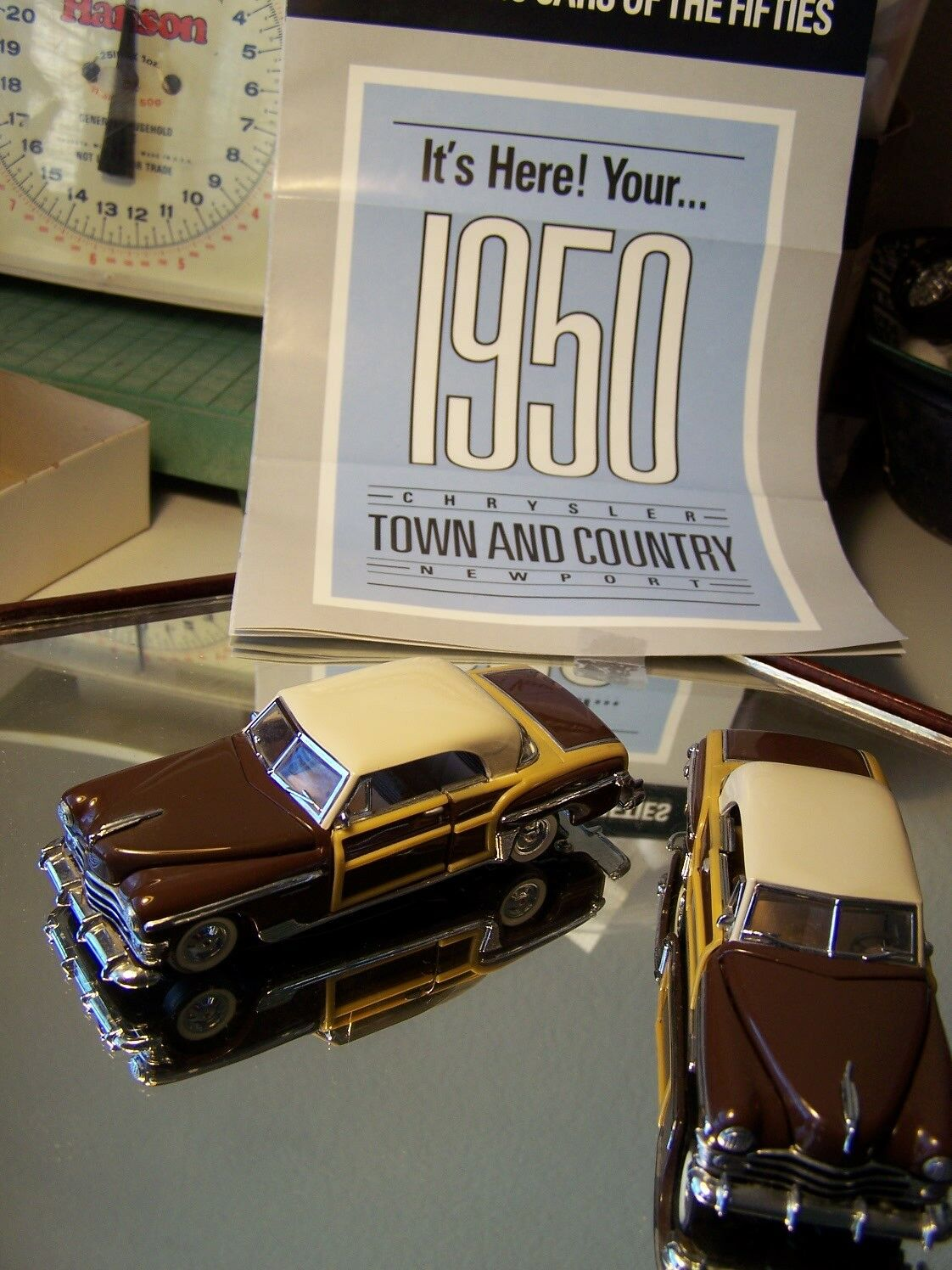 Franklin - mint - 1   43 woody braun 1950 chrysler town & country papers no box