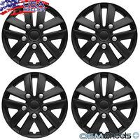 4 Matte Black 14 Hub Caps Fits Ford Windstar Center Wheel Covers Set