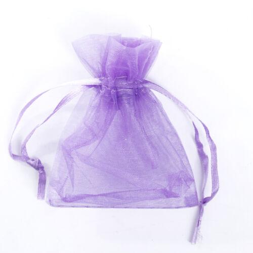 100 Cadeau Sac//Sachet Pochette Organza Bijoux Rangement Tissu 7x9cm//10x12cm