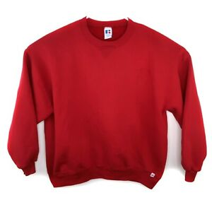 Vintage-Russell-Athletic-Red-Sweatshirt-Men-s-Size-XXL-Crew-Neck-90s-Made-in-USA