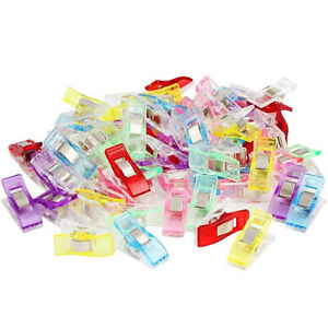 GC-50-100Pcs-Clover-Wonder-Clips-for-Crafts-Quilting-Sewing-Knitting-Crochet-Ch