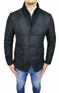 Jacket Mens Quilted Jacket Diamond Sartorial Black Smart