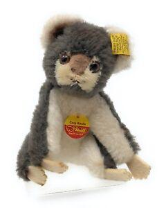 alter-Steiff-Cosy-Koala-mit-Knopf-Fahne-und-Schild-ca-12-cm-4770-12-TOP