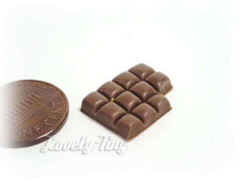 10 pc.of Dark Chocolate Bar Dollhouse miniature