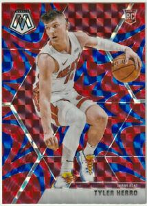 2019-20-Panini-Prizm-Mosaic-Tyler-Herro-Rookie-Rc-Red-Blue-Reactive-Miami-Heat
