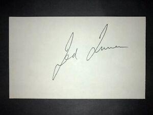 1977 BRAVES: Ted Turner, SIGNED 3x5 Card (JSC)