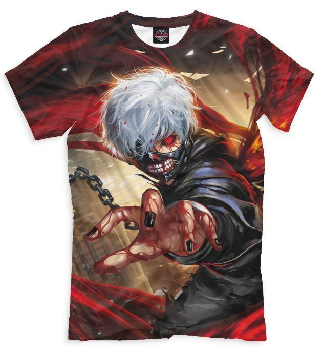 Tokyo ghoul Kaneki Anime t-shirt man Manga fantasy cartoon Game 6 Full print PB
