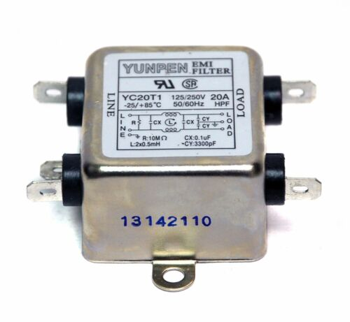 1pc Emi Filtro HPY Tipo yc20t1 125//250vac 20a ul CSA Yunpen Taiwan
