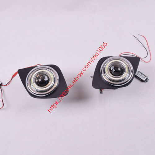 2x LED DRL Daytime Fog Lights Projector+angel eye kits For Toyota RAV4 2009-2011