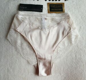 M/&S Rosie For Autograph Silk /& Lace High Leg Knickers Size 14
