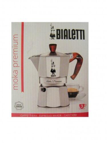 """Bialetti Espressokocher Moka Premium Wood /""""Limited Edition/"""" für 3 Tassen"""