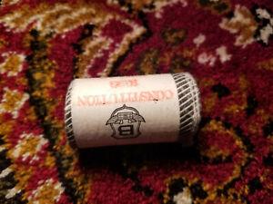 Original-Roll-One-Dollar-Coins-Canada-1982-Costitution