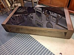 Low Level Coffee Table With Glass Top Ebay