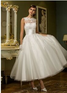 Ankle Length Wedding Dress