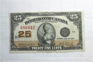 1923-Dominion-of-Canada-25-cents-shinplaster-banknote-money-1-4-dollar