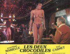 SEXY DANCER JEAN CARMET  LES DEUX CROCODILES  1987 VINTAGE LOBBY CARD ORIGINAL