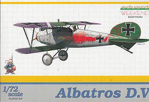 Albatros-D-V-Deutscher-Jaeger-1-Weltkrieg-1-72-Eduard-Plastikbausatz-OVP