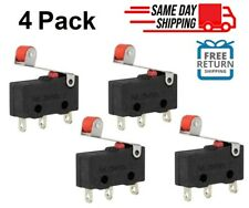 4x Durable Micro Roller Lever Arm Open Close Limit Switch Kw12 3 Microswitch