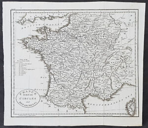 1770 thomas kitchin original antique map of france divided in image is loading 1770 thomas kitchin original antique map of france gumiabroncs Image collections