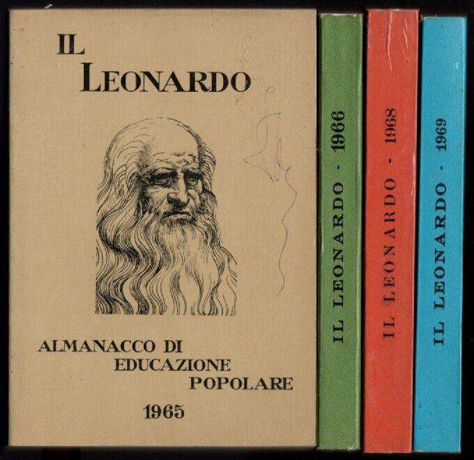 LOTTO IL LEONARDO ALMANACCO DI EDUCAZIONE POPOLARE 1965. 1966, 1968, 1969