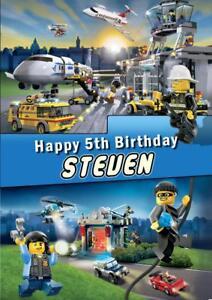 Personalised Lego City Police Birthday Any Occasion Card Ebay