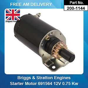 Starter Motor For Briggs & Stratton 691564 693469 808106 12V 15 Teeth