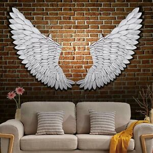 Banksy-40-039-039-Large-Rustic-Angel-Wing-Wall-Mount-Hanging-Canvas-Art-Bedroom