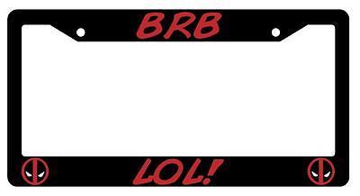 Black License Plate Frame LOL@ ur V8 Auto Accessory