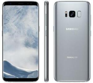 Samsung-Galaxy-S8-SPRINT-64GB-Silver-SM-G950U-GREAT-Clean-ESN-Light-LCD-Shadow