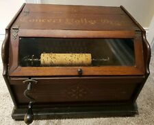 "1887 CONCERT ROLLER ORGAN Hand Crank Victorian Music Box Plays ""Yankee Doodle"""