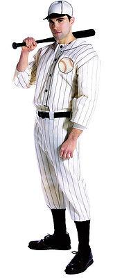Old Tyme Baseball Player Adult Costume Babe Ruth Pinstripes Rasta Imposta 7169