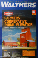 Walthers Cornerstone Series Kit HO Scale Farmers Cooperative Rural Grain Elevator Toys