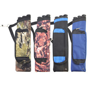 Archery 2 Tube Arrow Hip Quiver Case Holder with Clip Bow Hunting Black