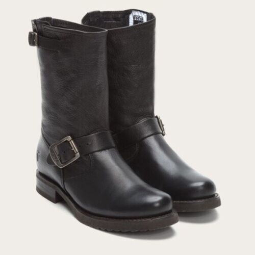 Frye Boots 7.5 Veronica Engineer Biker Black