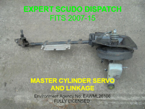 FITS 2007-15 SCUDO DISPATCH EXPERT MASTER CYLINDER  SERVO AND LINKAGE