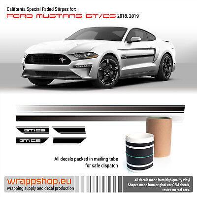 2013-2014 Mustang California Special GT//CS Rocker Stripes Vinyl Decal Graphics