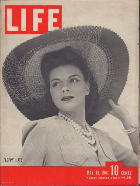 LIFE May 19,1941 Floppy Hats / 23 Days in a Lifeboat / Blitzkrieg London