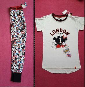 Primark Disney Mickey /& Minnie Mouse Ladies Pyjamas PJ Set /& Leggings