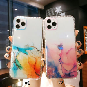 Glitter Marble TPU Phone Case Cover For iPhone 12 Pro Max ...